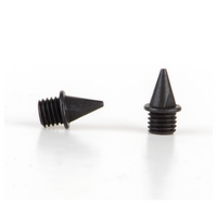 Omni-Lite 7mm Pyramid Spikes Pack of 20 - All Black / Black