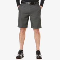 PGA Tour Expandable Waistband Flat Front Shorts - Men's - Grey