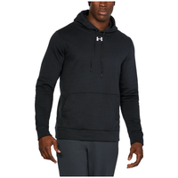 Under Armour Team Hustle Fleece Hoodie - Men's - All Black / Black