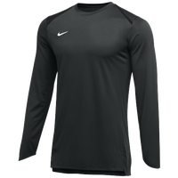 Nike Team Breath Elite L/S Top - Men's - Black / White