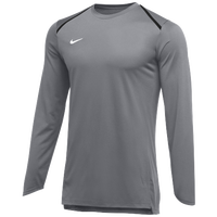 Nike Team Breath Elite L/S Top - Men's - Grey / White