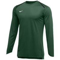 Nike Team Breath Elite L/S Top - Men's - Dark Green / White