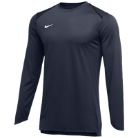 Nike Team Breath Elite L/S Top - Men's - Navy / White