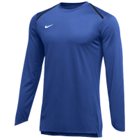 Nike Team Breath Elite L/S Top - Men's - Blue / White
