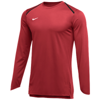 Nike Team Breath Elite L/S Top - Men's - Red / White