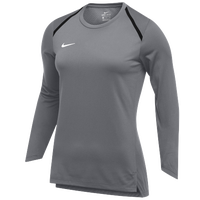 Nike Team Breath Elite L/S Top - Women's - Grey / White