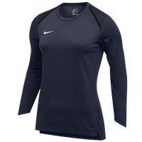 Nike Team Breath Elite L/S Top - Women's - Navy / White