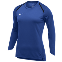 Nike Team Breath Elite L/S Top - Women's - Blue / White