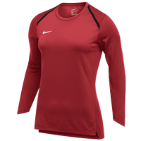 Nike Team Breath Elite L/S Top - Women's - Red / White