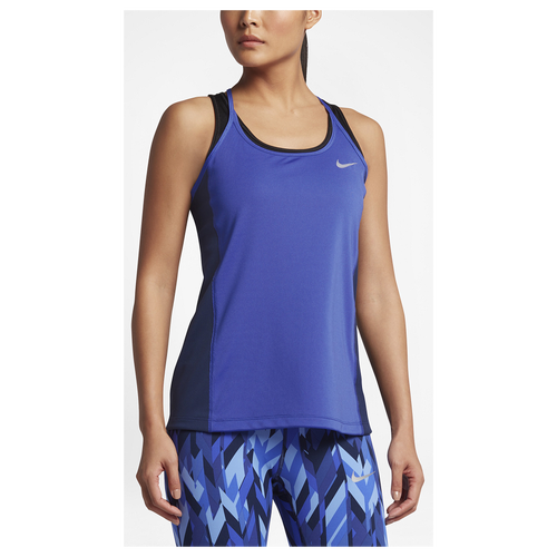 Nike Dri-FIT Miler Tank - Women's Running - Paramount Blue/Binary Blue/Reflective Silver 31522429