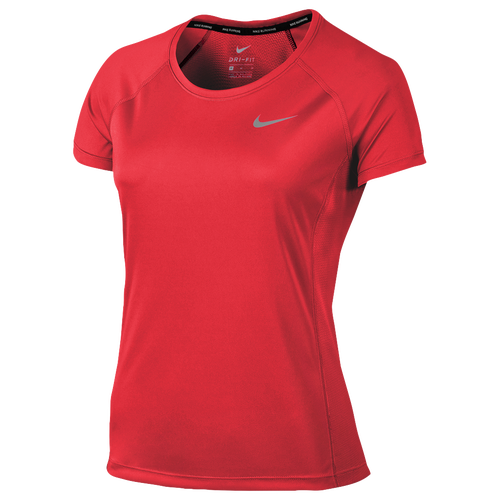 Nike dri fit miler crew short sleeve t shirt women 39 s for Nike dri fit t shirt ladies