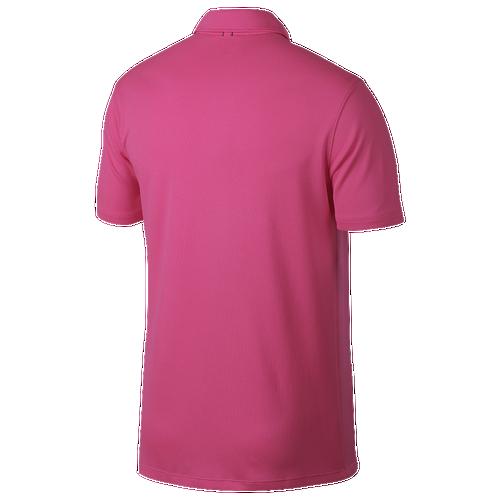 Nike Dry Textured OLC Polo - Men's Golf - Hyper Pink/White/White 316639
