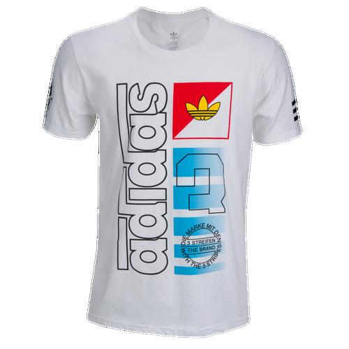 adidas Originals Graphic T-Shirt - Men's Casual - White/Red/Blue 317210