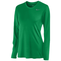 Nike Team Legend Long Sleeve T-Shirt - Women's - Green / Grey