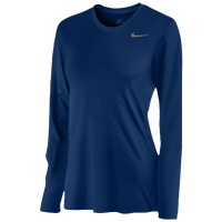 Nike Team Legend Long Sleeve T-Shirt - Women's - Navy / Navy