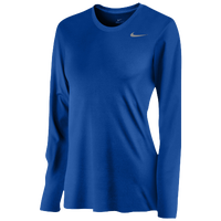 Nike Team Legend Long Sleeve T-Shirt - Women's - Blue / Blue