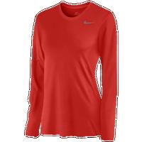 5f8b58eb Nike Team Legend Long Sleeve T-Shirt - Women's - Red / Red