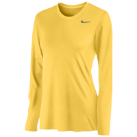 Nike Team Legend Long Sleeve T-Shirt - Women's - Yellow / Yellow