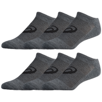 ASICS® Invasion No Show 6 Pack Socks - Men's - Grey / Grey