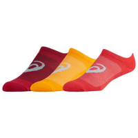 ASICS® Invasion No Show 6 Pack Socks - Women's - Red / Yellow