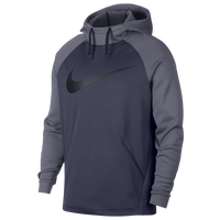 Nike Therma Hoodie - Men's - Navy / Grey