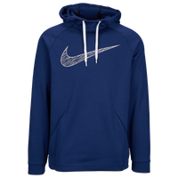 Nike Therma Graphic Hoodie - Men's - Navy / White