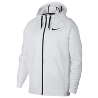 Nike Therma Full Zip Hoodie - Men's - White / Black