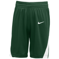Nike Team National Shorts - Men's - Dark Green / White