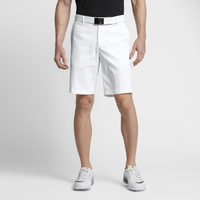 Nike Flat Front Golf Shorts - Men's - All White / White