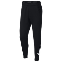 Nike Therma Tapered Pants - Men's - Black / White