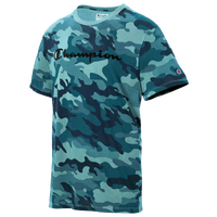 Champion Vintage Dye Camo S/S T-Shirt - Men's - Aqua / Dark Green