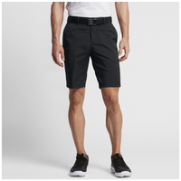 Nike Flat Front Golf Shorts - Men's - All Black / Black