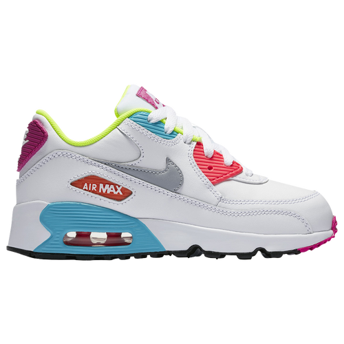 Nike Air Max 90 - Girls Preschool - Casual - Shoes - Summit WhiteMet Gold  Star