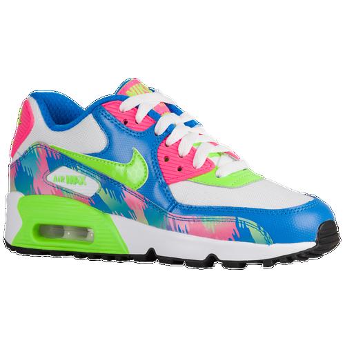 the best attitude 5fba5 64c63 Nike Air Max 90 - Girls  Grade School - Running - Shoes - Photo Blue