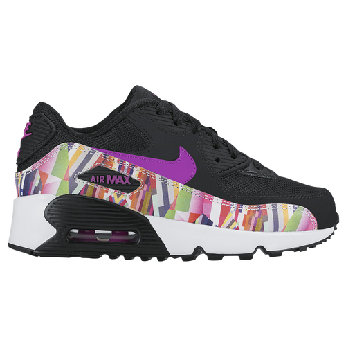 Nike Air Max 90 - Girls Preschool - Casual - Shoes - BlackHyper  VioletWhite