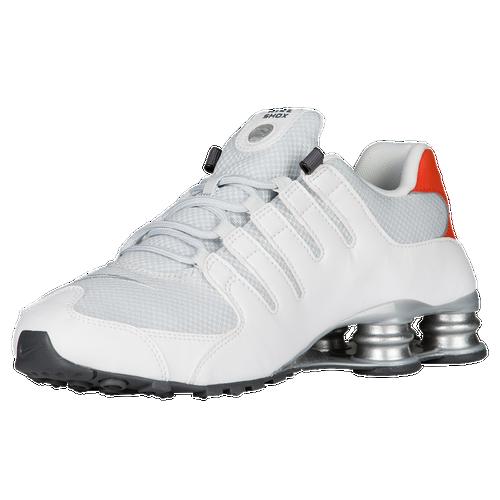 Nike Shox NZ - Men\u0027s - Running - Shoes - White/Metallic Silver/Max  Orange/Black