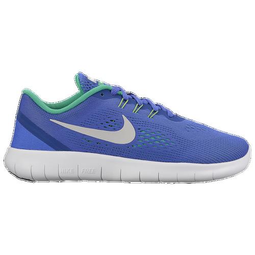 Special Nike Free RN Boys Grade School Running Shoes Paramount BluePure PlatinumStadium Green