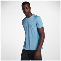 Nike Dri-FIT Cool Breathe Miler T-Shirt - Men's - Light Blue / Blue