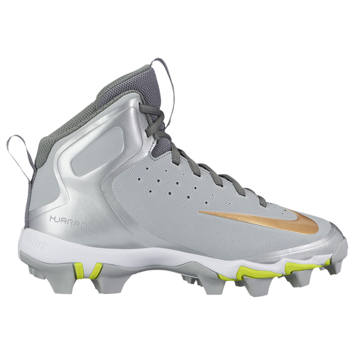Nike Alpha Huarache Keystone Mid MCS - Boys\u0027 Grade School - Grey / Gold