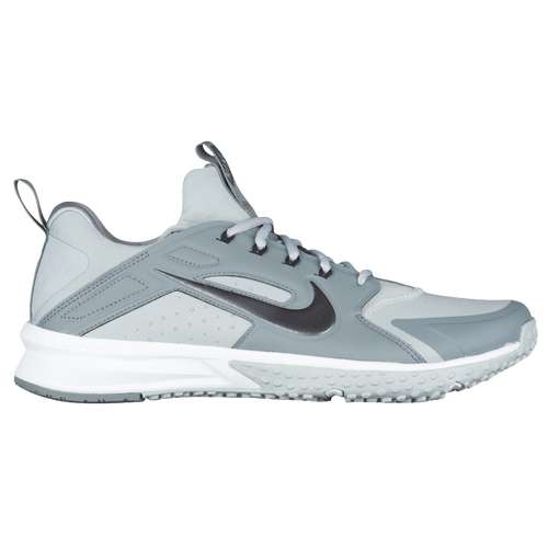 Nike Alpha Huarache Turf - Men's Baseball - Wolf Grey/Metallic Hematite/Cool Grey 3435002
