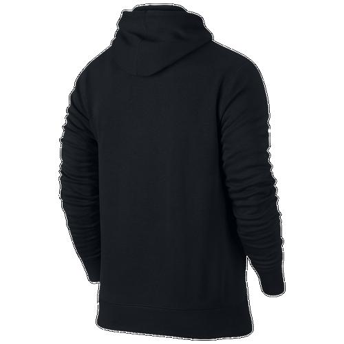 Jordan Jumpman Air Brushed Graphic Hoodie - Men's Basketball - Black/White/Blue 34371011