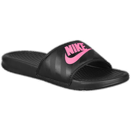 33c227d8b91 Nike Benassi JDI Slide Women s Black Vivid Pink 3438811