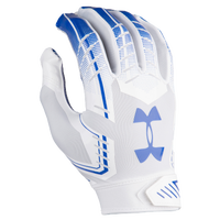 Under Armour F6 Football Gloves - Men's - White / Blue