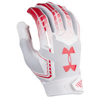 Under Armour F6 Football Gloves - Men's - White / Red