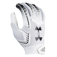 Under Armour F6 Football Gloves - Men's - White / Black