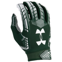 Under Armour F6 Football Gloves - Men's - Dark Green / White
