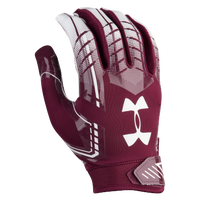 Under Armour F6 Football Gloves - Men's - Maroon / White