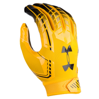 Under Armour F6 Football Gloves - Men's - Gold / Navy