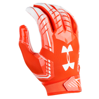 Under Armour F6 Football Gloves - Men's - Orange / White