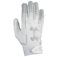 Under Armour F6 Football Gloves - Grade School - All White / White